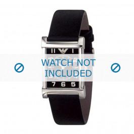 Armani bracelet de montre AR-0209XL Cuir Noir 20mm
