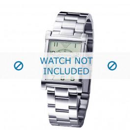Armani bracelet de montre AR-0216 Métal Argent 20mm