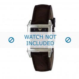 Armani bracelet de montre AR-0227 Cuir Brun 21mm