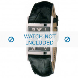 Bracelet de montre Armani AR0247 Cuir Noir 22mm