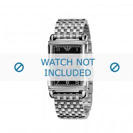 Armani bracelet de montre AR-0299 Métal Argent 22mm