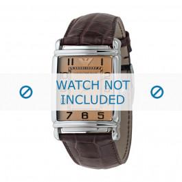 Armani bracelet de montre AR-0314 Cuir croco Brun 26mm