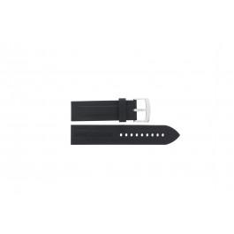 Bracelet de montre Armani AR0527 / AR5826 / Vanille Silicone Noir 23mm