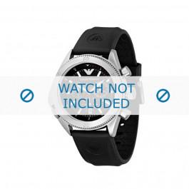 Bracelet de montre Armani AR0548 Caoutchouc Noir 23mm