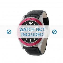 Bracelet de montre Armani AR0567 Cuir Noir 26mm