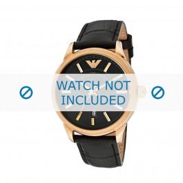 Armani bracelet de montre AR-0578 Cuir croco Noir 21mm