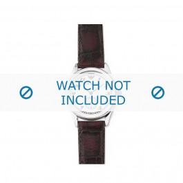 Armani bracelet de montre AR-0600 Cuir Brun foncé 18mm