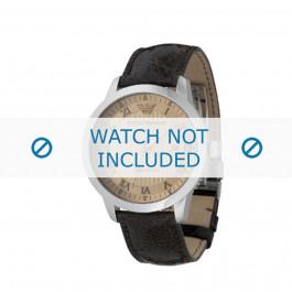 Armani bracelet de montre AR-0651 Cuir Brun foncé 20mm
