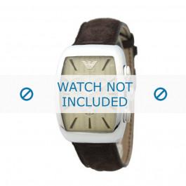 Armani bracelet de montre AR-0908 Cuir Brun 21mm