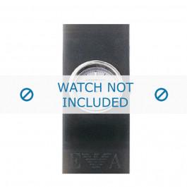 Armani bracelet de montre AR-1001 En caoutchouc Gris 24mm