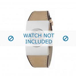 Armani bracelet de montre AR-1019 Cuir Blanc creme 30mm