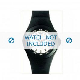 Armani bracelet de montre AR-1103 En caoutchouc Noir 14mm