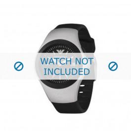 Bracelet de montre Armani AR1105 Caoutchouc Noir 14mm