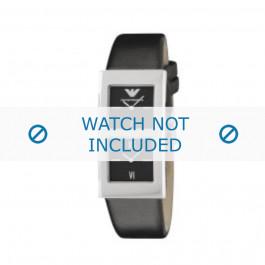 Armani bracelet de montre AR-2102 Cuir Noir 21mm