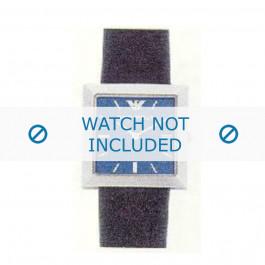 Armani bracelet de montre AR-2304 Cuir Noir 22mm
