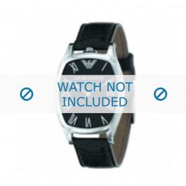 Armani bracelet de montre AR-2402 Cuir croco Noir 19mm