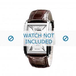 Armani bracelet de montre AR-4225 Cuir croco Brun 26mm