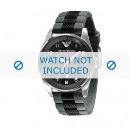 Armani bracelet de montre AR-5875 Silicone Noir 23mm