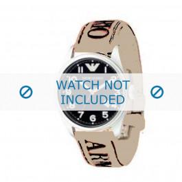 Armani bracelet de montre AX-8251 Cuir Blanc creme