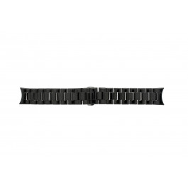 Bracelet de montre Armani AR1400 / AR1401 Céramique Noir 22mm