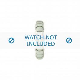 Armani bracelet de montre AR-5614 Cuir Blanc creme 8mm