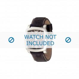 Armani bracelet de montre AR-5803 Cuir Brun foncé 24mm