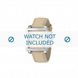Armani bracelet de montre AR-5813 Cuir Blanc creme 24mm