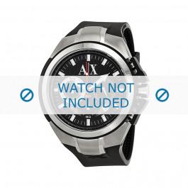 Bracelet de montre Armani AX1042 Silicone Noir 32mm