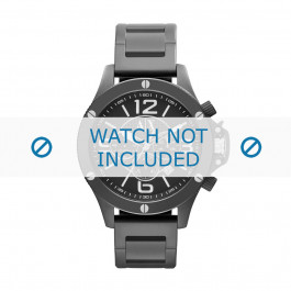 Bracelet de montre Armani AX1503 Acier Noir 22mm
