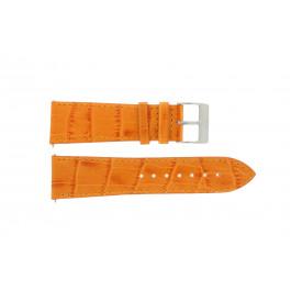 Bracelet de montre Davis B0201 / 24 Cuir Orange 24mm