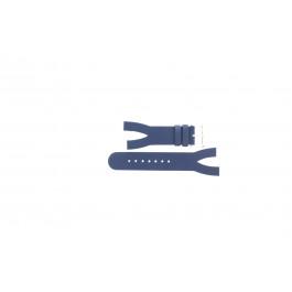 Bracelet de montre Davis BB1403 Cuir Bleu 10mm