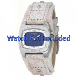 Bracelet de montre Fossil BG2043 Cuir Beige 20mm