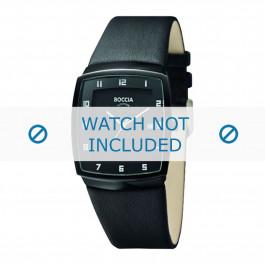 Boccia bracelet de montre 3541.03 Cuir Noir