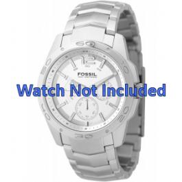 Fossil bracelet de montre BQ9327 / BQ9328 Métal Argent 22mm