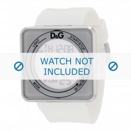 Dolce & Gabbana bracelet de montre DW0735 Plastique Blanc 28mm