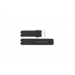 Bracelet de montre Danish Design IQ13Q523 / IQ12Q523 Cuir Noir 16mm