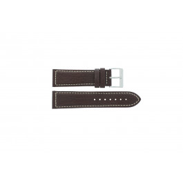 Bracelet de montre Davis BB0453 Cuir Brun 24mm