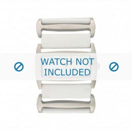 Bracelet de montre Davis BB0755 Cuir Blanc 36mm