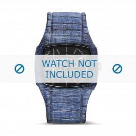 Diesel bracelet de montre DZ1669 Silicone Bleu 28mm