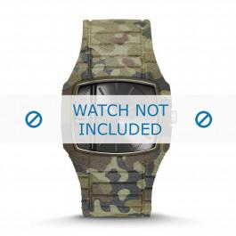 Diesel bracelet de montre DZ1671 Silicone Olive verte 28mm