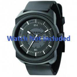 Bracelet de montre Diesel DZ1262 Caoutchouc Noir 26mm
