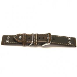 Bracelet de montre Universel I392 Cuir Brun 24mm