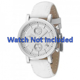 Bracelet de montre Fossil ES2202 Cuir Blanc 18mm