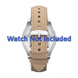 Bracelet de montre Fossil ES2997 Cuir Beige 18mm