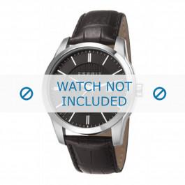 Esprit bracelet de montre ES107591 / ES107591001-40L Cuir Noir + coutures noires