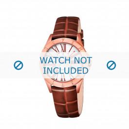 Festina bracelet de montre F16930-3 Cuir croco Brun 16mm