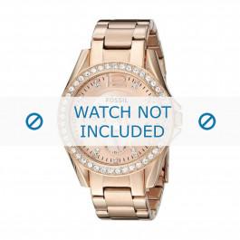Bracelet de montre Fossil ES2811 / 25XXXX Acier Rosé 18mm