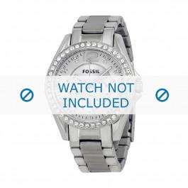 Fossil bracelet de montre ES3202 Push pin  Métal Argent 18mm