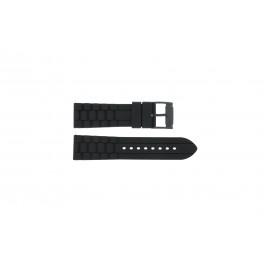 Bracelet de montre Fossil FS4487 / FS4628 / FS4605 / JR1425 Silicone Noir 24mm