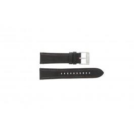 Fossil bracelet de montre FS4672 Cuir Noir 22mm + coutures défaut